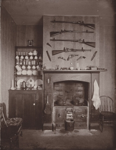 William Williams, House interior, 188-? E.R.Williams Collection, Alexander Turnbull Library, Wellington, NZ. Ref:1/2-140288-G
